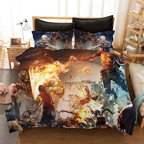 Duvet Cover Super King Size 260x240 cm Bedding set 3 Piece with 2 Pillowcases 50x90 cm Call of Duty 3D Printing Design Soft Microfiber Quilt Cover Set with Zipper