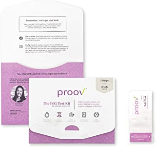 Proov PdG - Progesterone Metabolite – Test | Only FDA-Cleared Test to Confirm Ovulation Quality at Home | 1 Cycle Pack | Works Great with Ovulation Tests | 5 PdG Test Strips