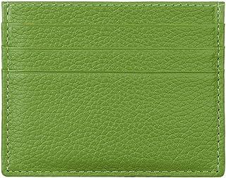 Hibate (Verde) Uomo Donna Porta carte di credito Portafoglio sottile in pelle Blocco RFID Blocking Credit Card Holder Wallet
