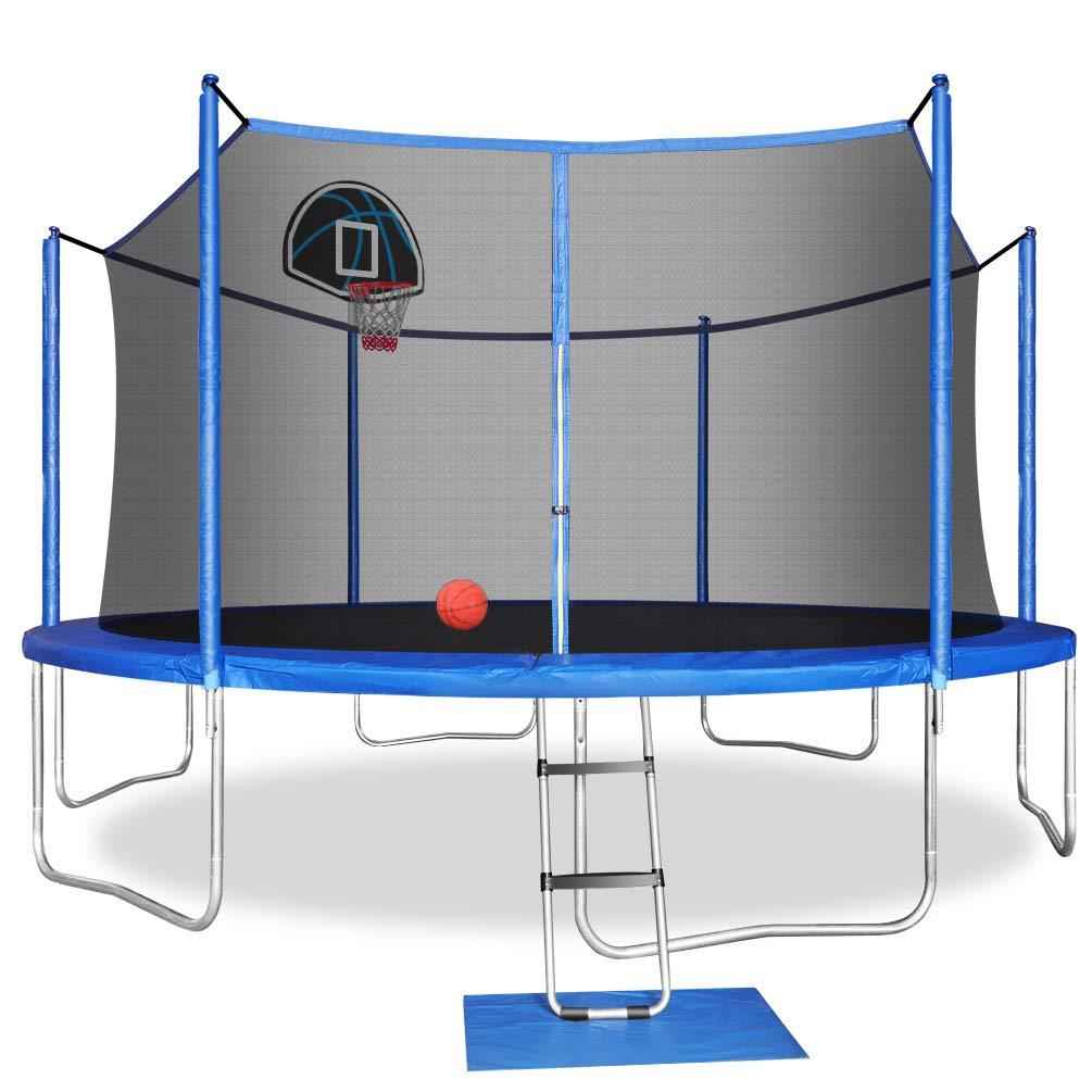 Trampoline Basketball Enclosure Ladder Including Accessories Trampoline