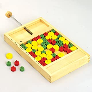 Bits and Pieces - Mikado Rules Wooden Board Game-A Classic Wooden Land Mine Board Game Family Game - Board Measures 11-1/2'' x 7''