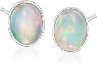 Bazooky Rose Gold Round Crown Opal Jeweled Combo Ear Stud Earrings Aurora Borealis//Tanzanite//Teal