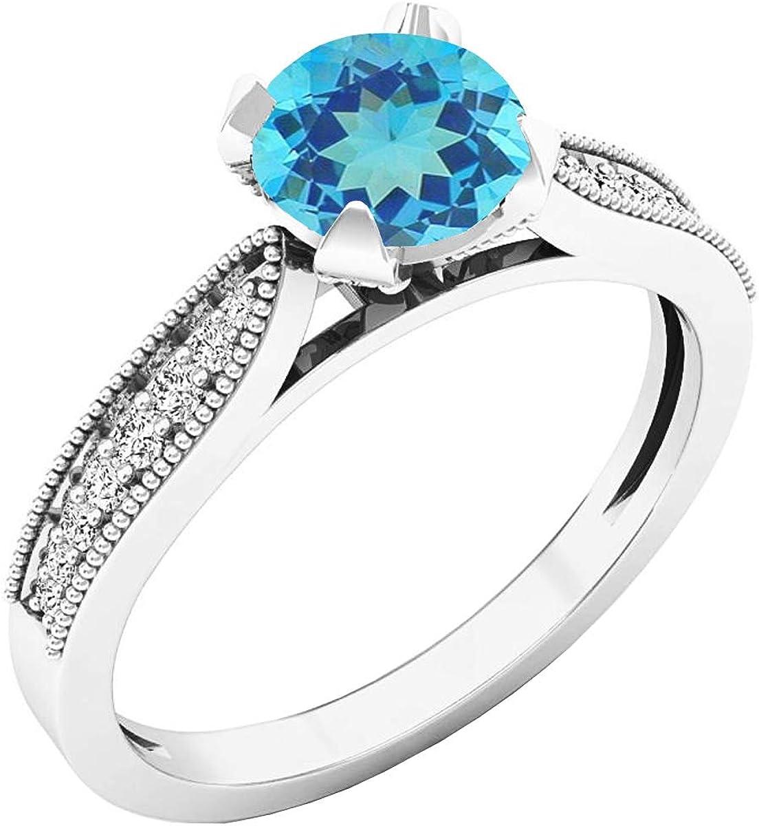 Max 74% Gifts OFF Dazzlingrock Collection 6 MM Round Bri Ladies Diamond Gemstone