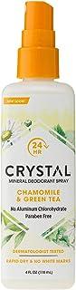 Crystal Essence Mineral Deodorant Spray, Chamomile & Green Tea 4 oz (Pack of 12)