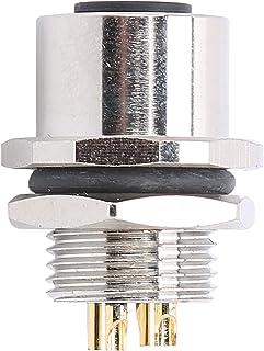 Conector à prova d'água M12, conector de fio de aviação com design de amortecimento M12-B-S4, confiável para dispositivos ...