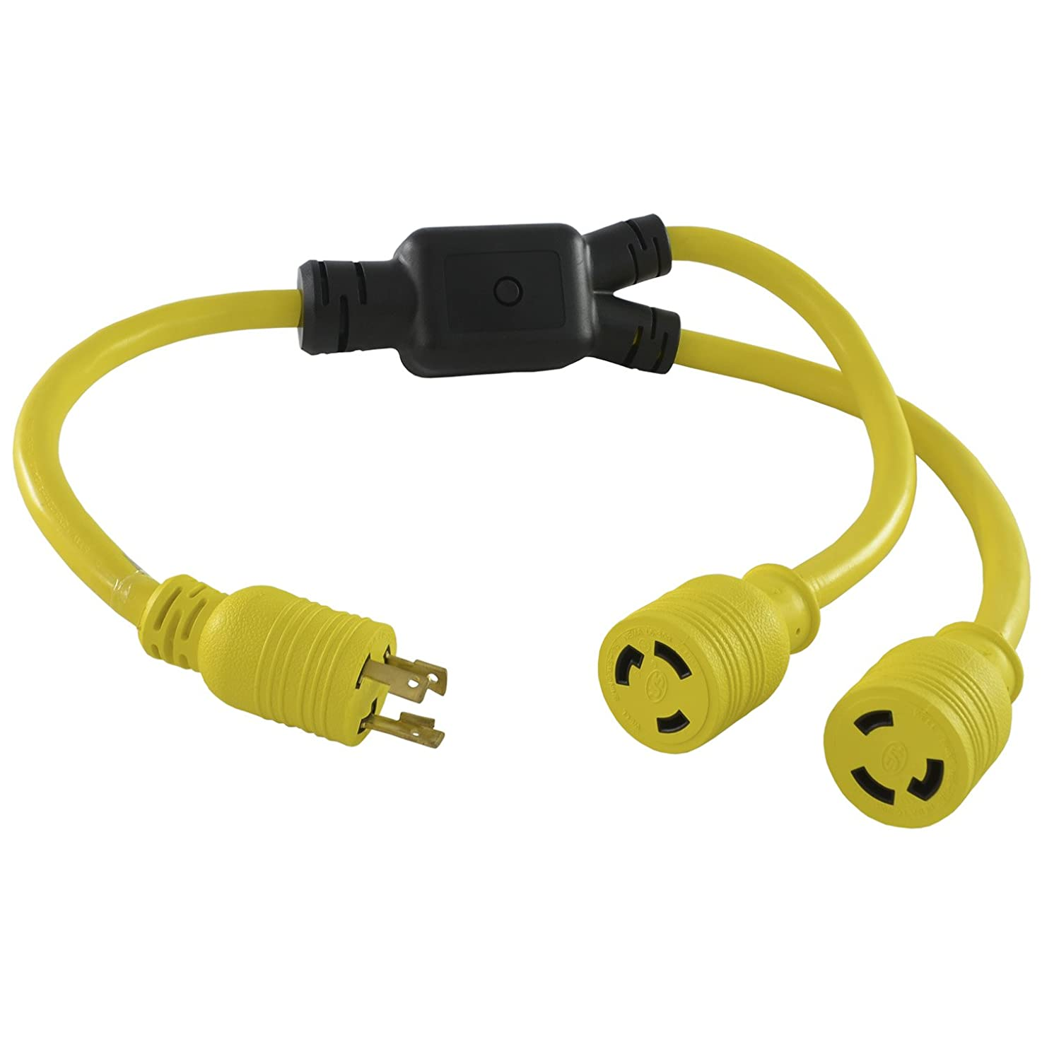 Conntek YL630L630 30 Amp 250V 3' Y-Adapter Cord L6-30P to NEMA L6-30R