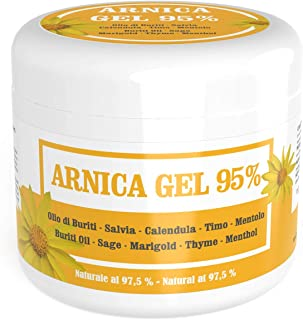 Arnica Gel 95% - 16.91 Fl.oz - Soother with Arnica Montana, Buriti Oil, Sage and Calendula extracts, Thyme and Menthol essential oils - Natural at 97,5%