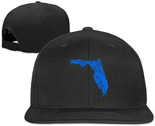 Florida Gator Baseball Cap Unisex Flat-Bill Adjustable Vintage Peaked Cap