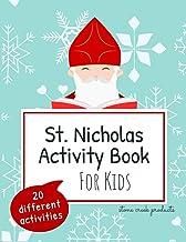 St. Nicholas Activity Book for Kids | 20 Different Activities: Saint Nicholas Book with Word Searches, Maze Puzzles, Color...