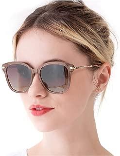 RazLiubit Womens Fashion Cateye Sunglasses, Polarized Eyewear for Driving Fishing, 100% UV400 Protection
