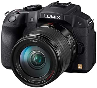 "Panasonic DMC-G6HEG-K Fotocamera Digitale Mirrorless, 16 MP MOS, FHD, LCD 3"", Mirino OLED, Obiettivo 14-140mm, Nero"