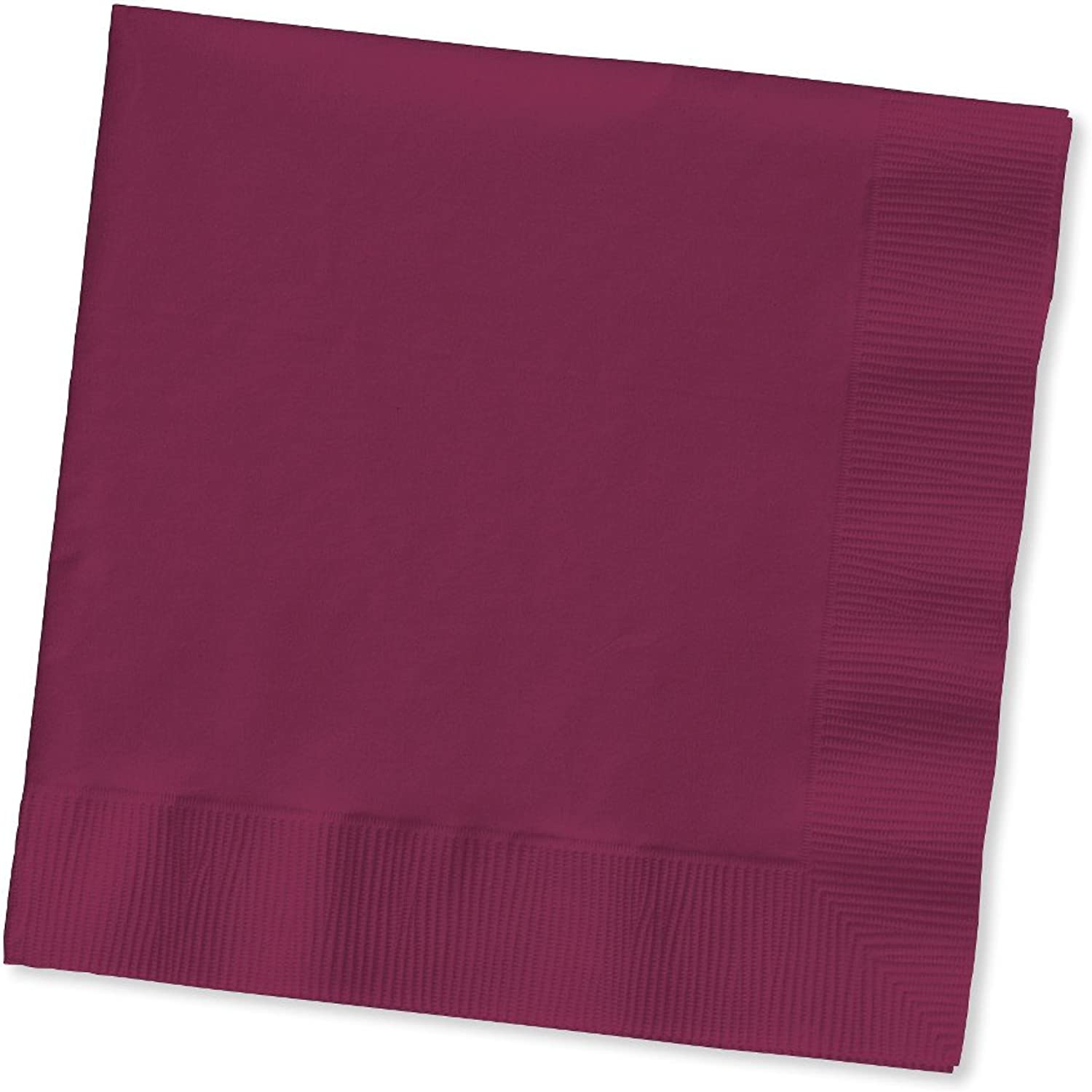 Creative Congreening 663122B Touch of color 2Ply Paper Lunch Napkins, Burgundy , 6.5  x 6.5 , 50ct