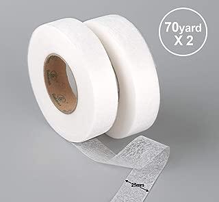 Absofine - 2 Cintas termoadhesivas para Dobladillo de 70 Yardas, Cinta de Dobladillo termoadhesiva, para reforzar la Ropa, Pantalones, Cortinas y Cojines, Apliques y Patchwork