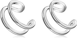 925 Sterling Silver Ear Cuff Wrap Earrings Non Pierced Cartilage Earrings for Women Jewelry Gifts