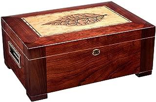 Cigar Humidor Alcohol Moisturizer Moisturizing Alcohol Large Capacity Double Cedar Wood (Color : Red, Size : 39 * 27 * 16cm)