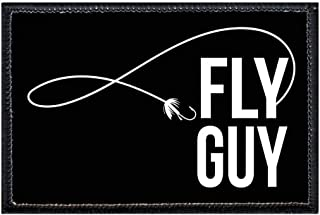Fly Guy Morale Patch | Hook and Loop Attach for Hats, Jeans, Vest, Coat | 2x3 in | by Pull Patch