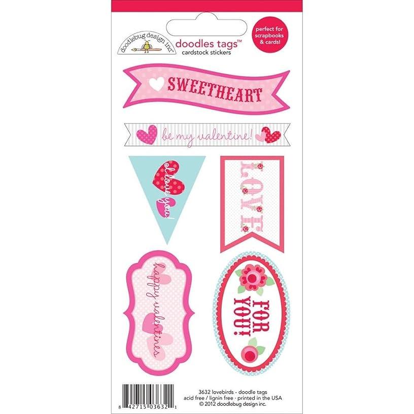 DOODLEBUG Lovebirds Doodles Cardstock Stickers 3