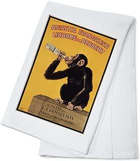 Anisetta Evangelisti Vintage Poster (artist: Biscaretti) Italy c. 1925 (100% Cotton Kitchen Towel)