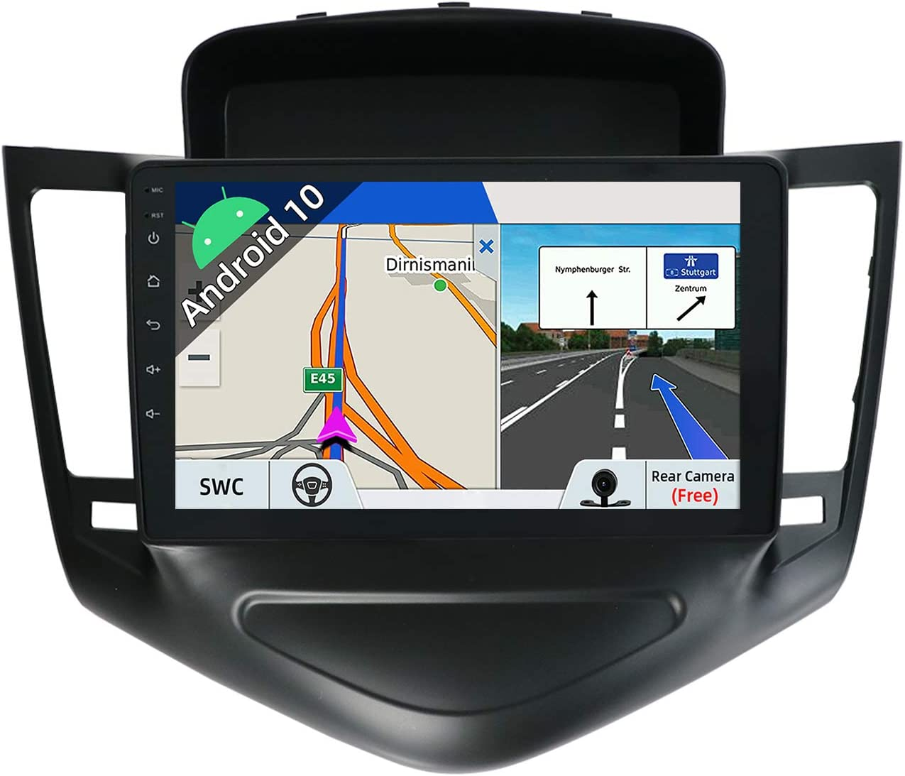 JOYX Android 10 Autoradio para Chevrolet Cruze (2009-2014) - [2G+32G] - Gratis Cámara Canbus - 9 Pulgada GPS 2 DIN - IPS 2.5D - Apoyo Dab 4G WLAN Bluetooth Carplay Mandos de Volante Google Mirrorlink