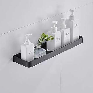 CGLOVEWYL étagère de Salle de Bain en Aluminium Noir Mural carré shampooing étagère cosmétique Filets Cuisine étagère étag...