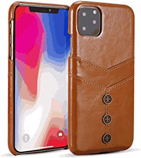PU Leather Flip Cover Compatible with iPhone 11 Pro Max, brown Wallet Case for iPhone 11 Pro Max
