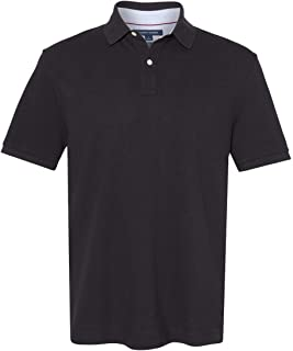 Tommy Hilfiger Mens Classic Fit Pique Rugby Polo Shirt