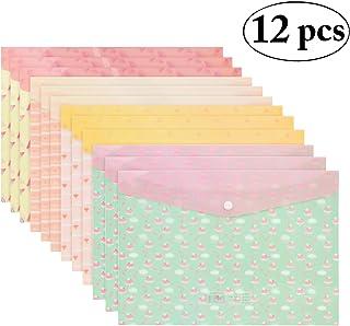 Coafit Carpeta Del Sobre A4 De La Prenda Impermeable Del PVC De La Carpeta De Archivos De 12PCS