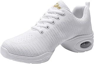 POLP Mujer Zapatos de Baile Jazz Danza Moderna Suave Zapatos de baile de Transpirable Zapatillas de deporte Calzado con Co...