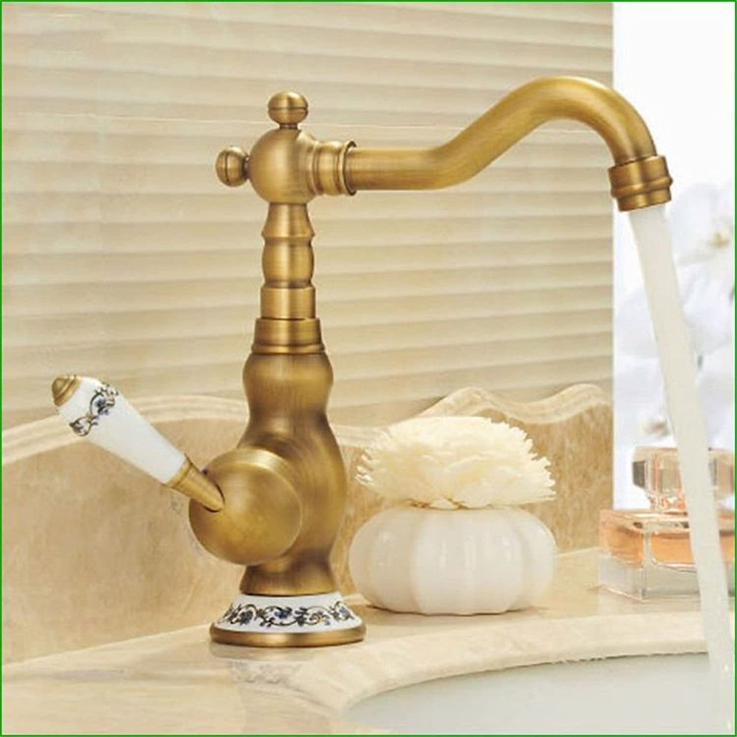 Hlluya Professional Sink Mixer Tap Kitchen Faucet Antique full copper cold water faucet antique slot to redate the dish dish washing basin Faucet