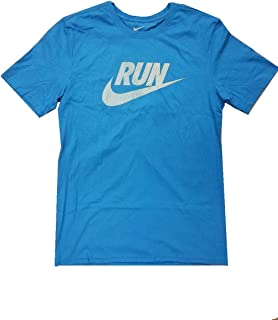 NIKE Men's Run Swoosh Team Blue/Neon T-Shirt AJ5862-484