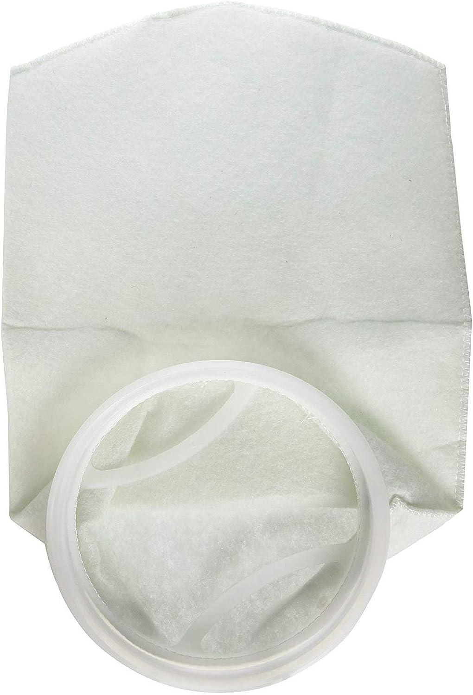 5Pcs 7 x32  5μm Polypropylene Mesh Filter Socks Filter Bags Reusable for Aquarium Pool (5 Micron)