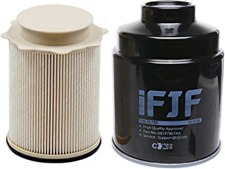 iFJF Fuel Filter Water Separator set for Dodge Ram 6.7L 2500 3500 4500 5500 6.7L Cummins Turbo Diesel Engines 68197867AA 68157291AA