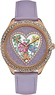 Guess Women's Analogue Quartz Watch with Leather Strap W0908L1