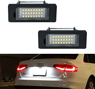 License Plate Light, GemPro 2Pcs LED License Plate Tag Lamp Assembly For Audi A1 A4 A5 A6 A7 S5 Q5 RS5 TT TTRS, Powered by 24SMD Xenon White LED Lights