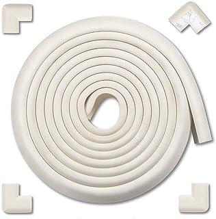 AMERTEER Edge & Corner Guards Baby Proofing Foam - Safety Furniture Bumper Table Protectors - Corner Cushion Set 4M (15.7 ...