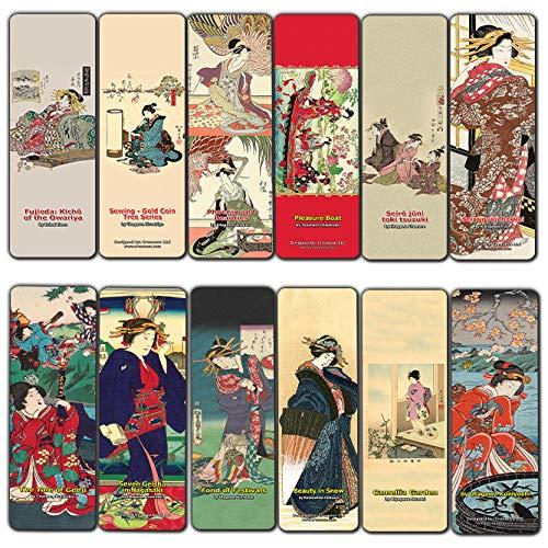 Segnalibri giapponesi da donna (confezione da 30) Oiran Geisha Kimono