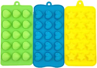 Pausseo 3Pcs Silicone Ice Cube Mold Stacking Ice Cube Tray Storage Containers Kitchen Bar Tools Flexibility Ice Lattice Maker Tray for Beer/Red Wine Storage/Fruit Drinks-22X10.5 X1.5cm