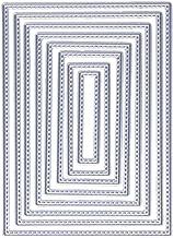 6pcs//set Vintage Torn Rectangle Frame Metal Cutting Dies For Diy Scrapbooking Photo Album Embossing Paper Cards Decorative Craft Rectangle Frame GanesaVu