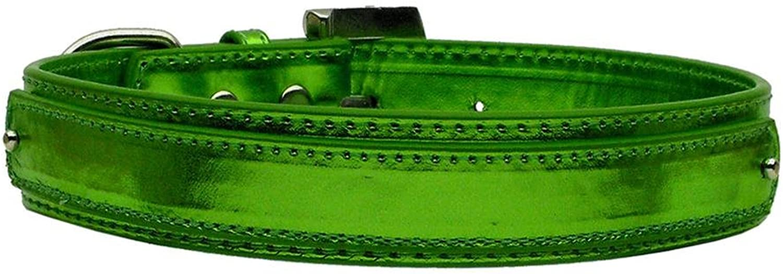 Mirage Pet Products 2Tier Metallic Collar, Large, Emerald Green