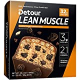 Detour Lean Muscle Nutrition Bars, Cookie Dough...