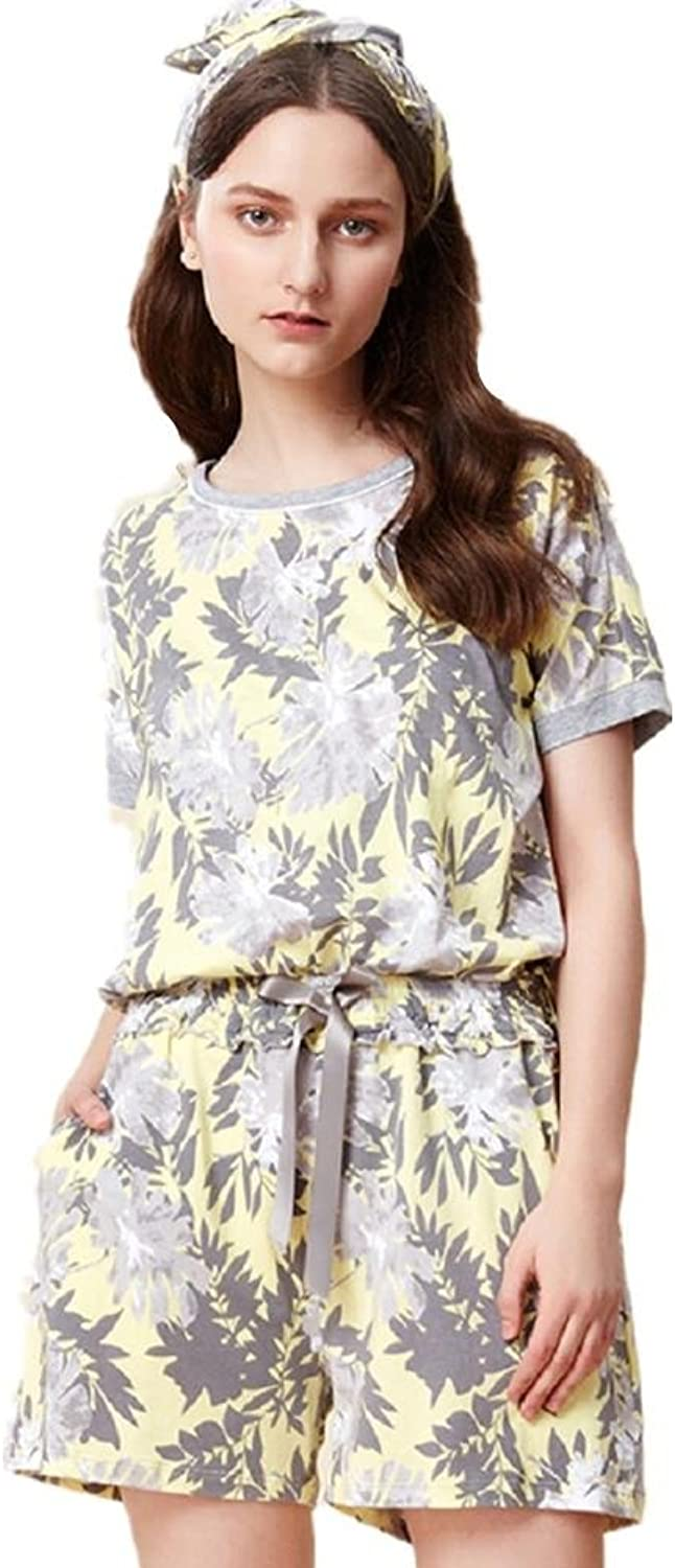 DMMSS Women'S Pajamas Set Short Sleeve + Shorts Summer Can Be Used To Wear Home Clothing 2Piece Sets