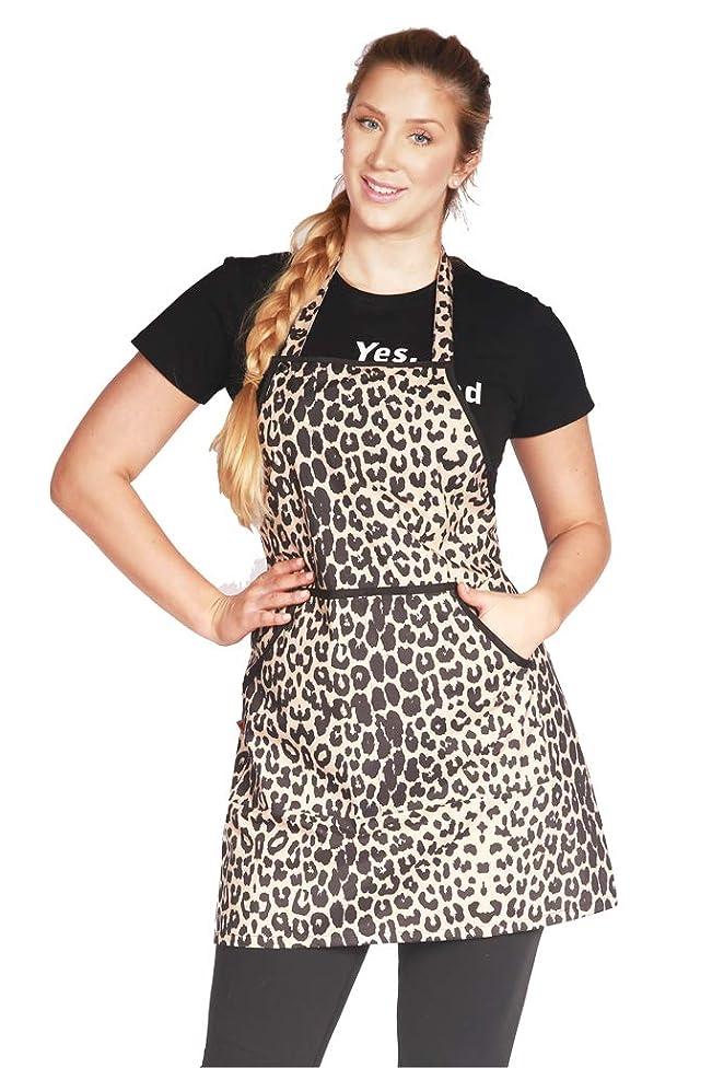 Ladybird Line Waterproof Leopard Print Bleach Resistant Stylist Apron