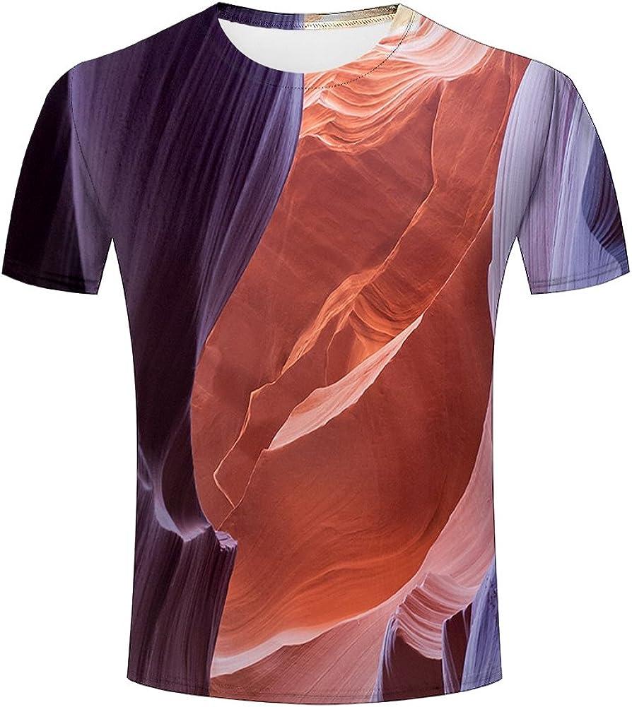 Mens 3D Printed Summer Short Sleeve Pullover Blouse Tops Cool Tees Shirts Sweatshirt Fashion Comfy O-Neck T-Shirt SIN+MON