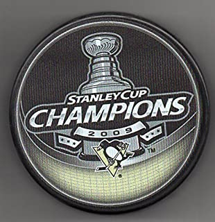 Pittsburgh Penguins 2009 Stanley Cup Champions Official NHL Puck + FREE Puck Cube
