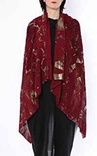 ミハイル ギニス アオヤマ MICHAIL GKINIS AOYAMA 着る ART ストール [登録意匠] 日本製 ハイテク ニット MADE IN TOKYO ギリシャ 大判 コットン Cotton BURGANDY BRONZE バーガンディ ブロンズ