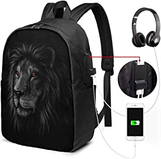 Mochila con Interfaz USB Durable Luggage Backpacks Cat Lies in The Room for Business Work School with USB 17In