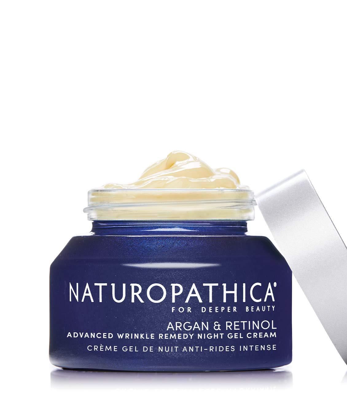 Naturopathica Argan & Retinol Wrinkle Repair Night Cream - Non-irritating Nighttime Facial Moisturizer - Vegan, Made in USA