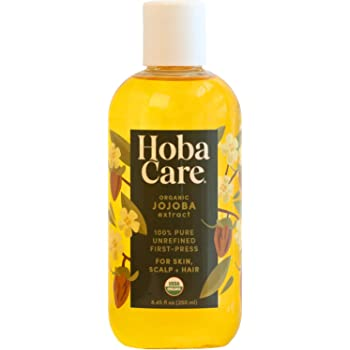 The Original Jojoba Company - HobaCare Organic 8.44 oz. (250 mL) - Pure Organic Jojoba for Face and Skin - Essential Jojoba - Always Pesticide Free - 100% Pure Jojoba