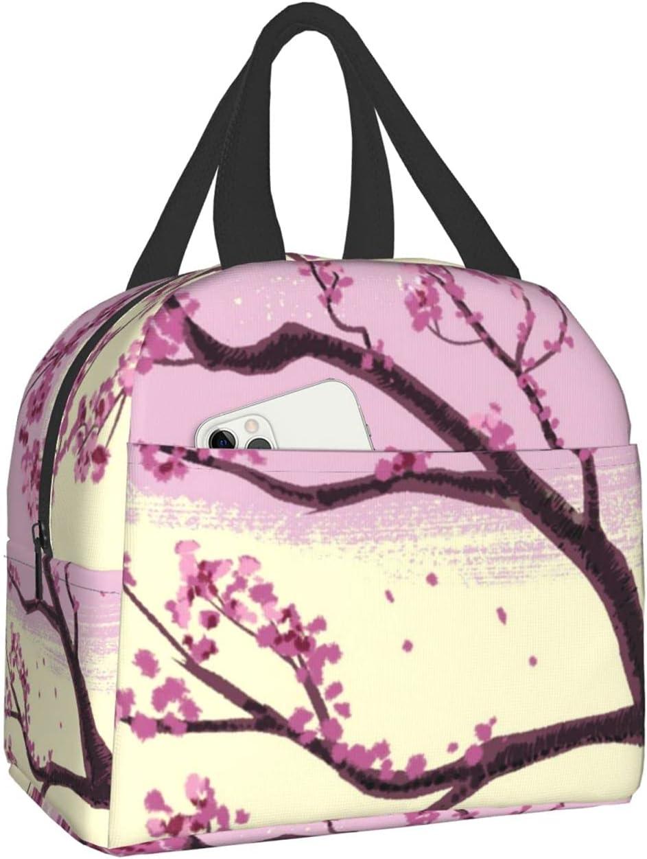 Long Beach Mall Cherry Blossom Tree(4) Lunch Ranking TOP15 Bag Handbag Reusable Tote Porta