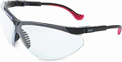Uvex by Honeywell Genesis XC Safety Glasses, Black Frame with Clear Lens & Dura-Streme Anti-Fog/Anti-Scratch Coating (S3300D)